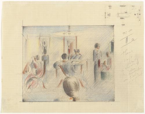 Figures in a Room (Figuren im Raum), 1936 - Oskar Schlemmer