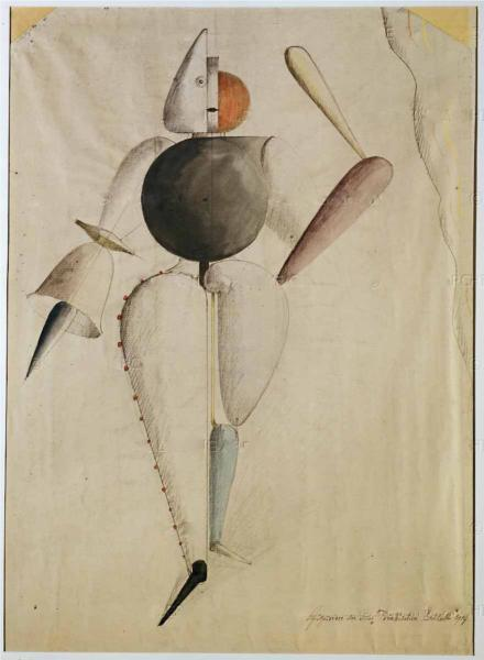 Preliminary sketch for the Triadic Ballet, 1919 - Oskar Schlemmer