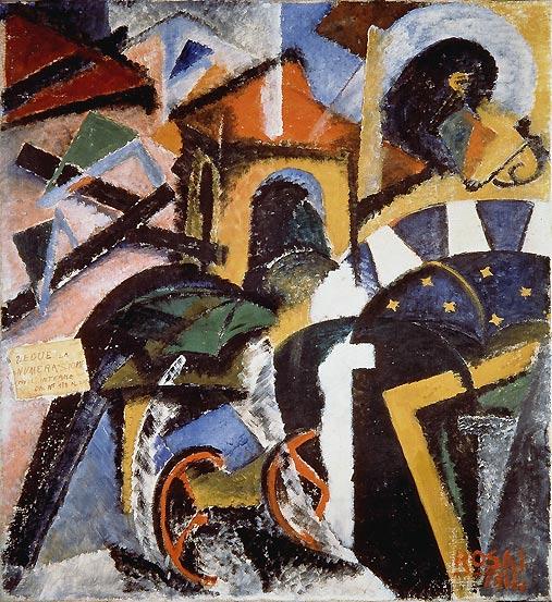 Scomposizione di una strada, 1914 - Ottone Rosai