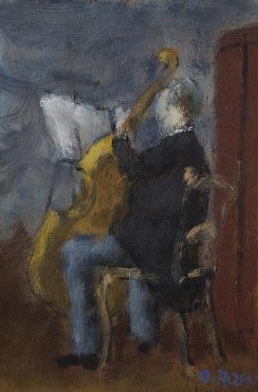 Violoncello Player, 1956 - Ottone Rosai