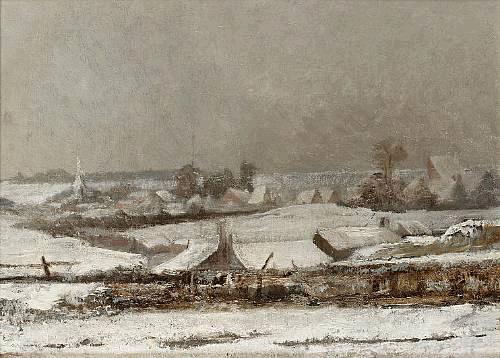 Village sous la neige (Vallée de la Meuse), 1878 - Pericles Pantazis