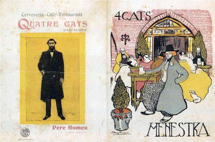 "Advertisement for tavern ""Four cats"", 1897 - Pablo Picasso"