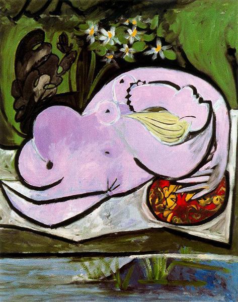 Female nude in the garden, 1934 - Pablo Picasso