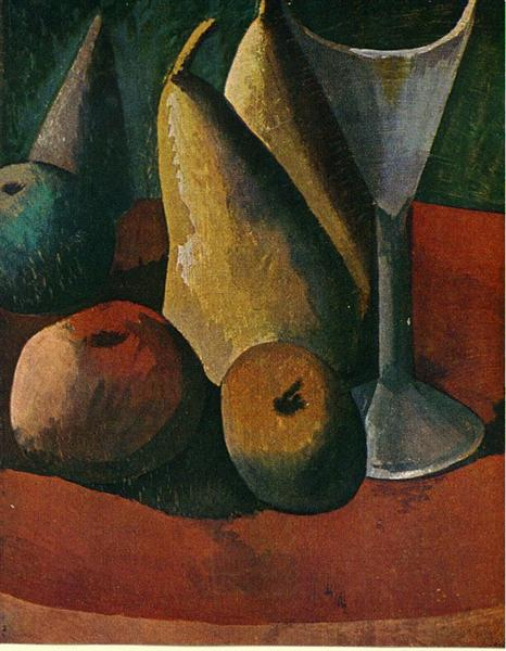 Glass and fruits, 1908 - Pablo Picasso
