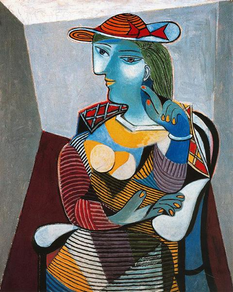 Portrait of Marie-Thérèse Walter, 1937 - Pablo Picasso - WikiArt.org