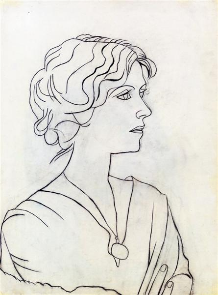 Portrait of Olga, 1920 - Pablo Picasso