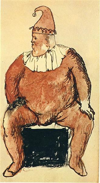 Seated fat clown, 1905 - Pablo Picasso
