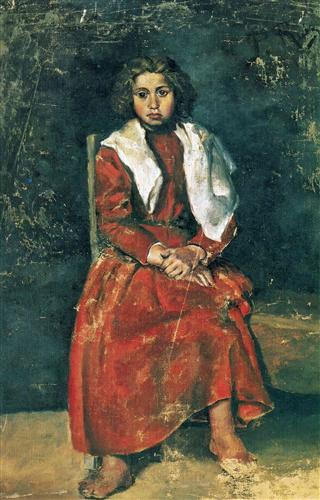The barefoot girl - Pablo Picasso
