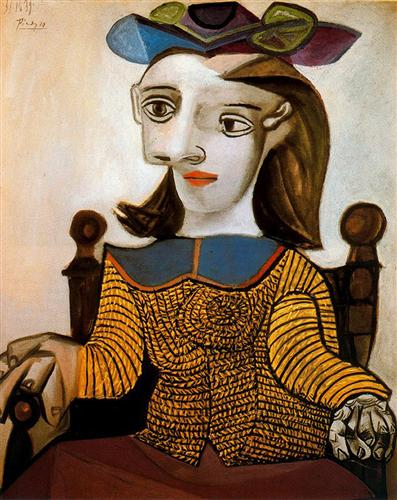 The yellow shirt (Dora Maar) - Pablo Picasso