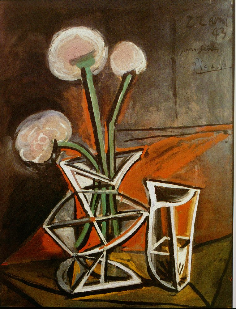 vase with flowers pablo picasso. Black Bedroom Furniture Sets. Home Design Ideas