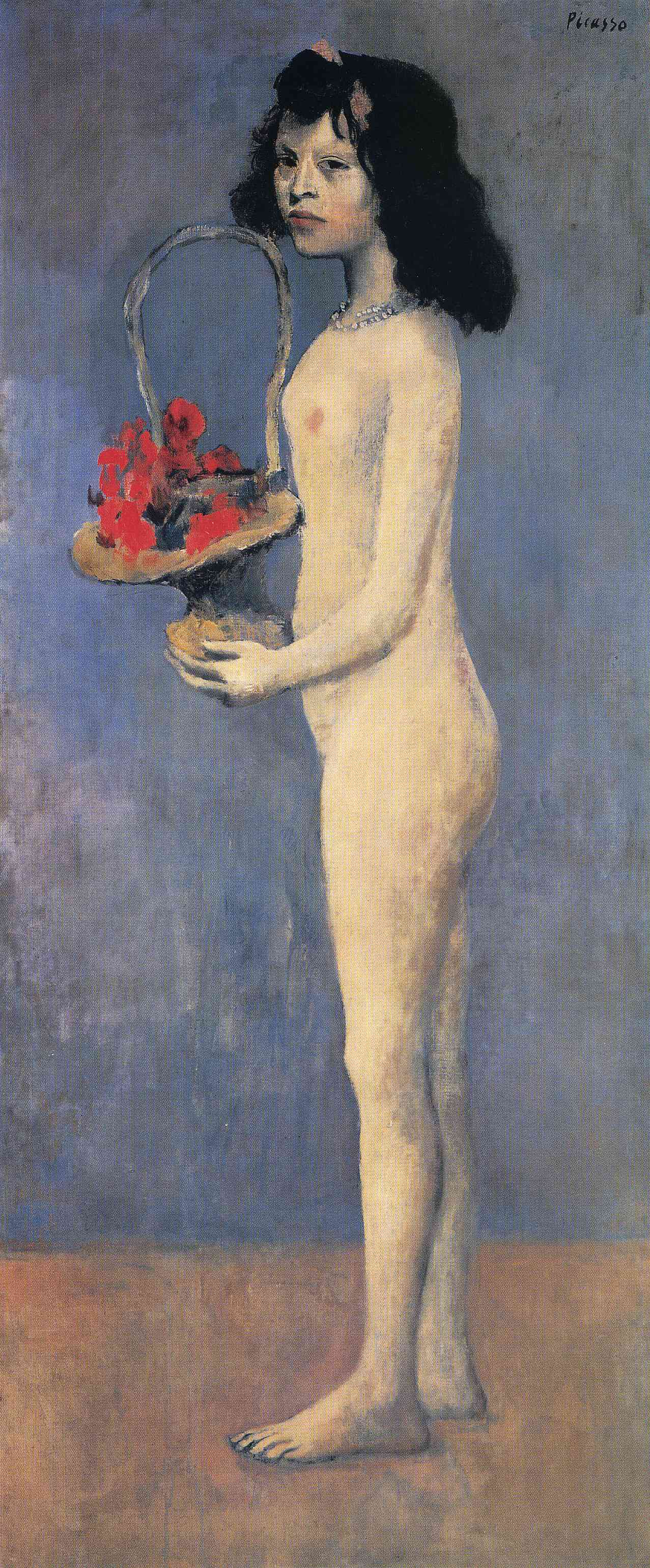 Young Naked Girl With Flower Basket, 1905 - Pablo Picasso -2848