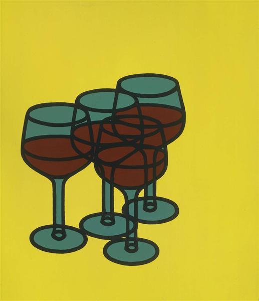 Wine Glasses, 1969 - Patrick Caulfield
