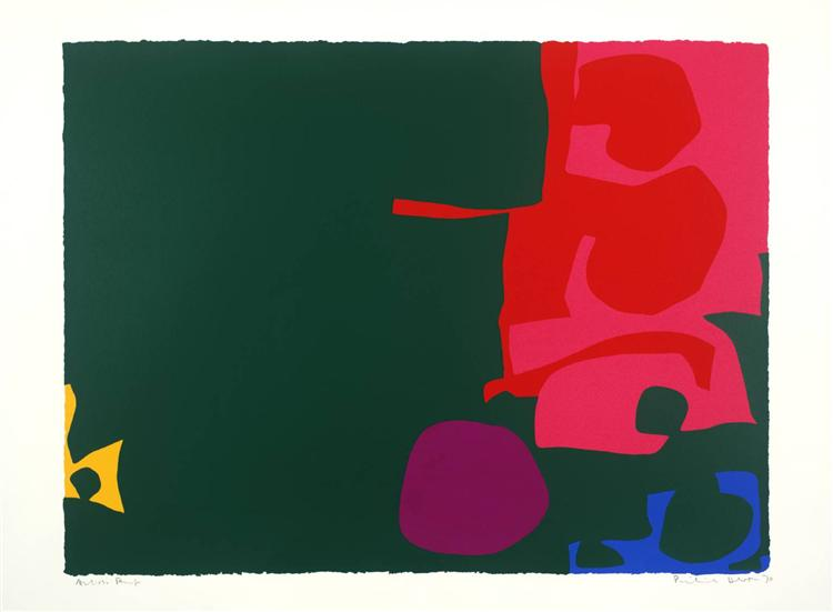 Interlocking Scarlet and Pink in Deep Green, 1970 - Patrick Heron