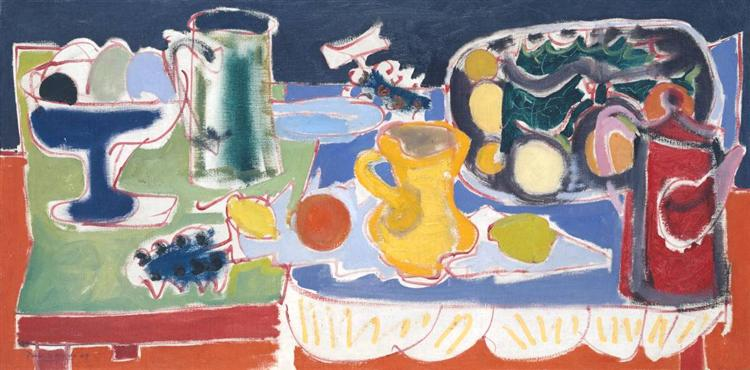 The Long Table with Fruit - Patrick Heron
