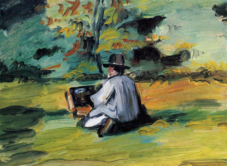 A Painter at Work, 1875 - Paul Cezanne - WikiArt.org