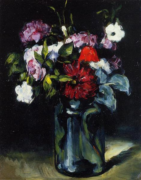 Flowers in a Vase, 1873 - Paul Cezanne