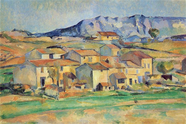 Mont Sainte-Victoire, c.1890 - Paul Cezanne