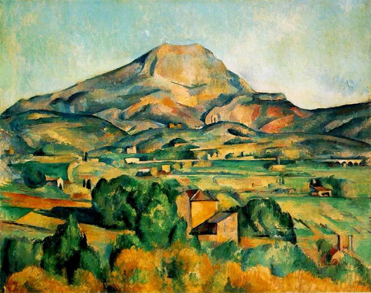 Mont Sainte-Victoire, 1895 - Paul Cezanne