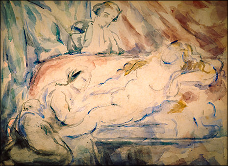Period: Mature period. Genre: nude painting (nu). Technique: watercolor