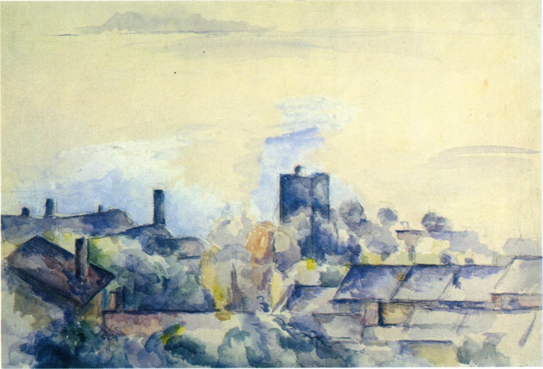 Roofs In L Estaque 1882 Paul Cezanne Wikiart Org