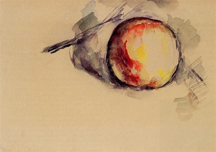 Study of an Apple, 1885 - Paul Cezanne