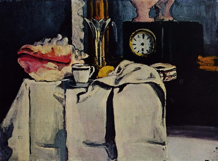 The Black Marble Clock, c.1870 - Paul Cezanne