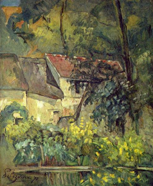The House of Pere Lacroix in Auvers, 1873 - Paul Cézanne