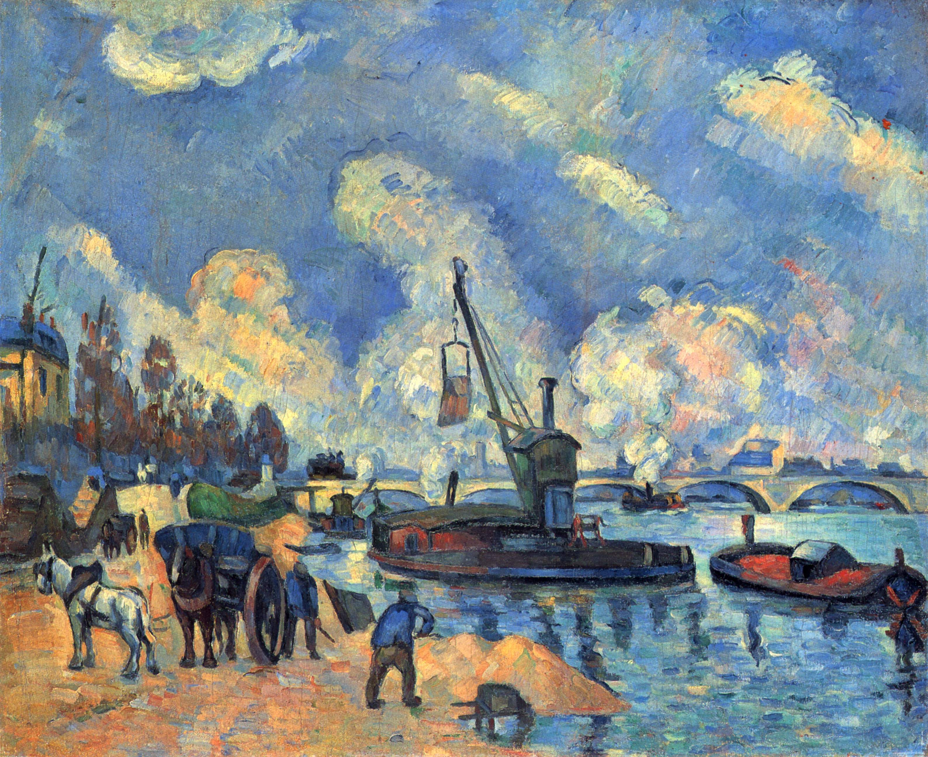 The seine at bercy paul cezanne for Artistic mural works