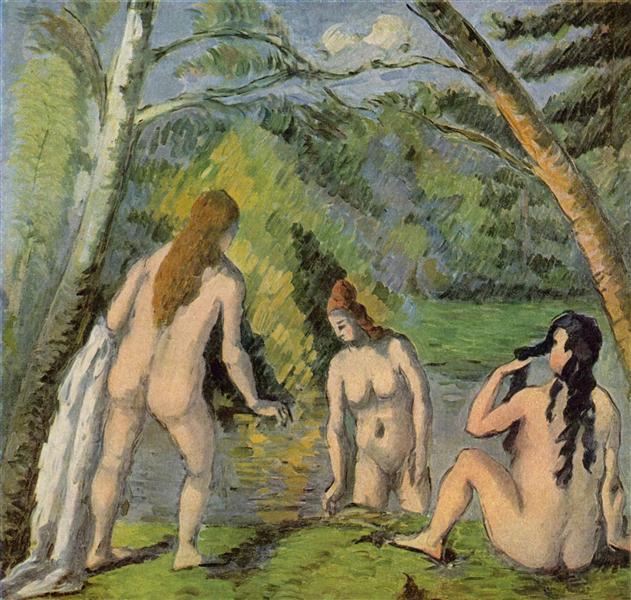 Three Bathers, c.1882 - Paul Cezanne