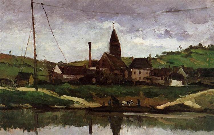 View of Bonnieres, 1866 - Paul Cézanne