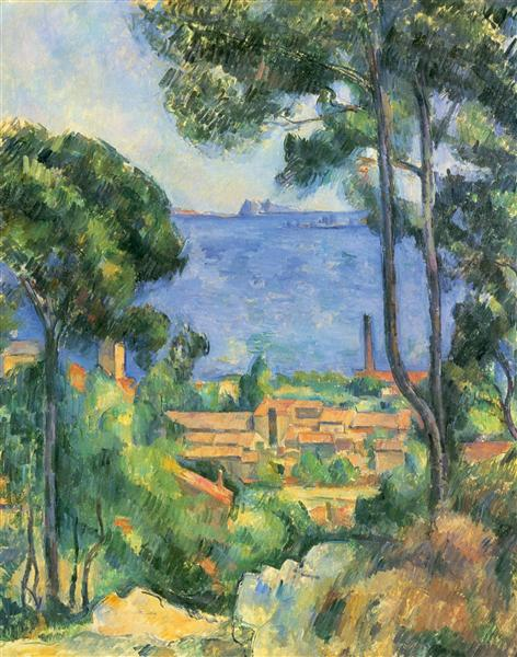 View of L'Estaque and Chateaux d'If, 1885 - Paul Cezanne