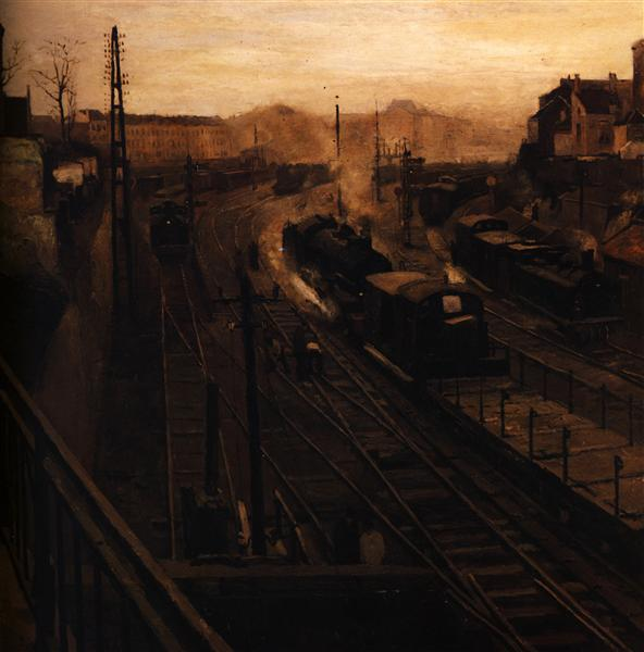 For the Brussels Luxembourg Station, 1922 - Paul Delvaux