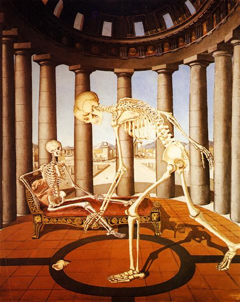 The skeleton has the shell, 1944 - Paul Delvaux