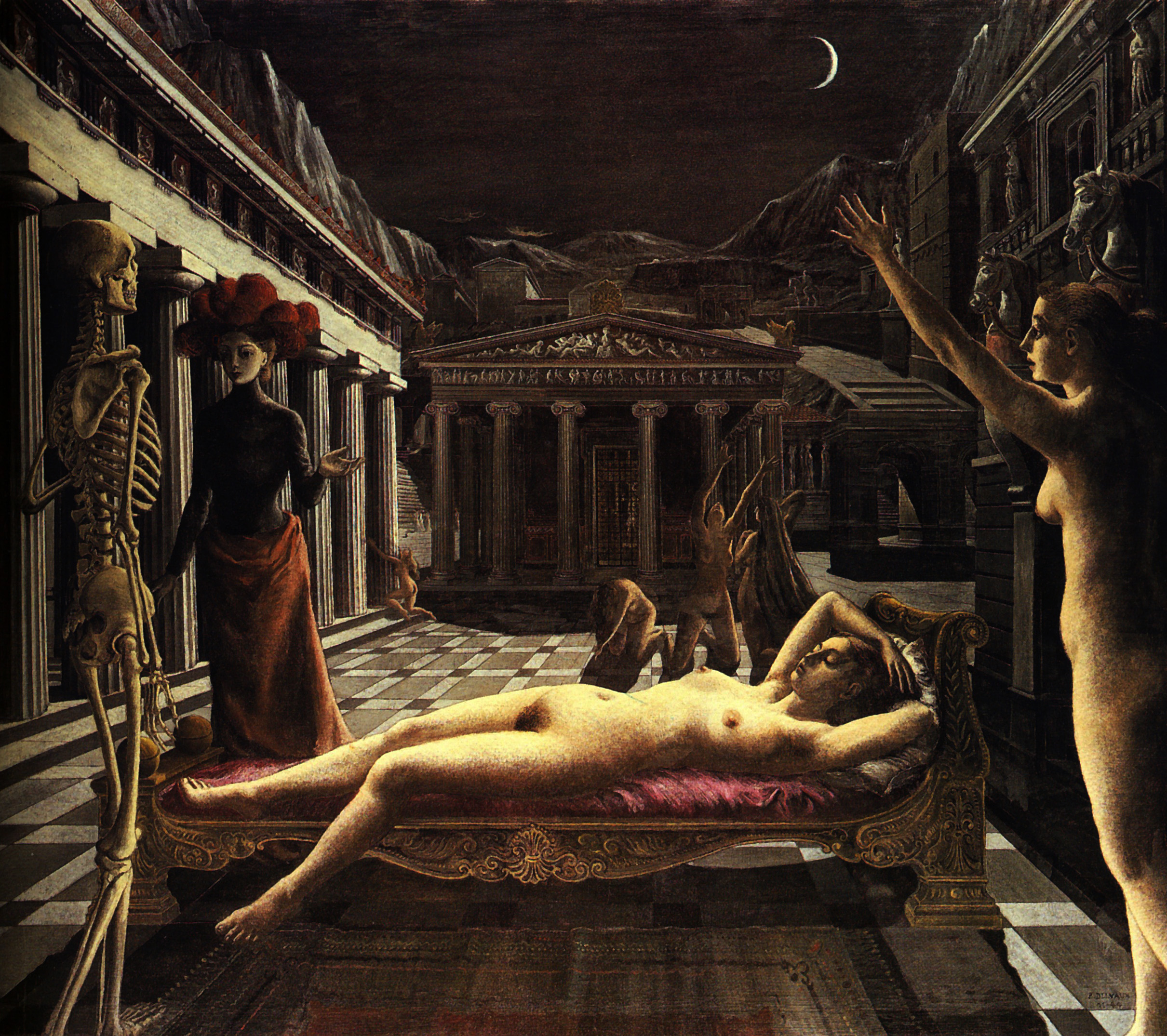 paul delvaux venus asleep
