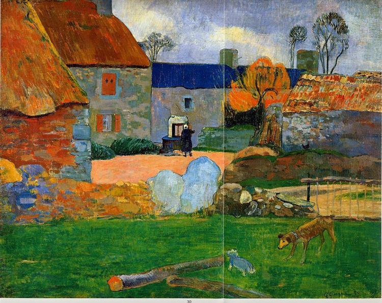 A blue roof (Farm in Pouldu), 1890 - Paul Gauguin