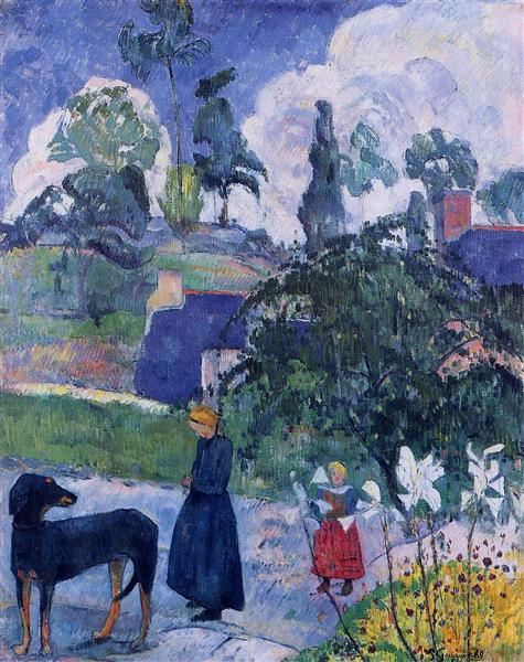Among the lillies, 1893 - Paul Gauguin