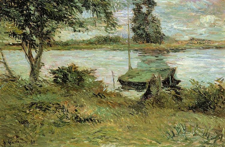 Banks of the Oise, 1881 - Paul Gauguin
