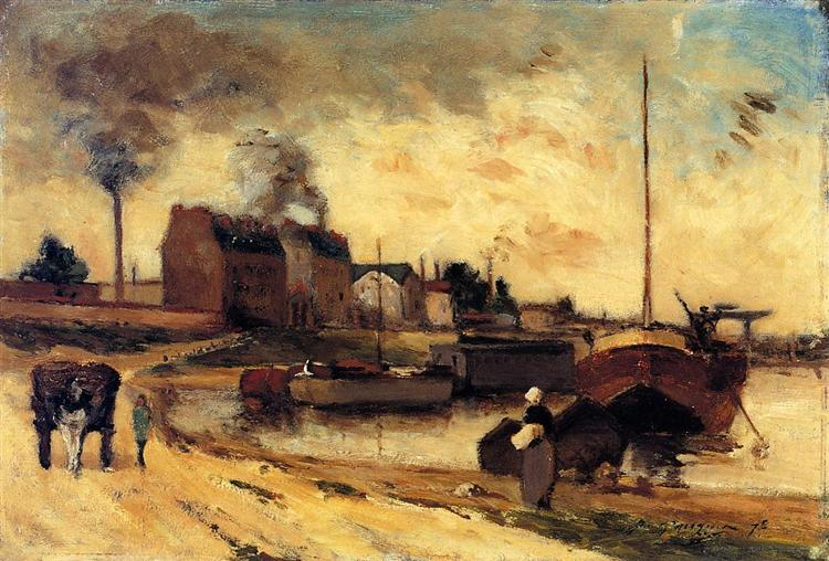 Cail Factories and Quai of Grenelle, 1875 - Paul Gauguin