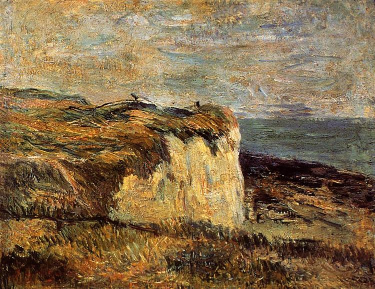 Cliff near Dieppe, 1885 - Paul Gauguin