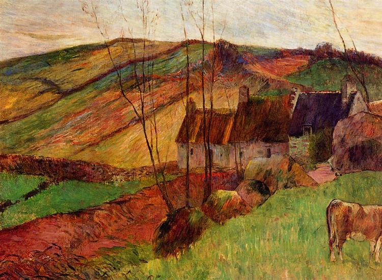 Cottages on Mount Sainte Marguerite, 1888 - Paul Gauguin
