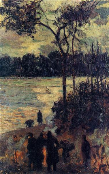 Fire by the water, 1886 - Paul Gauguin