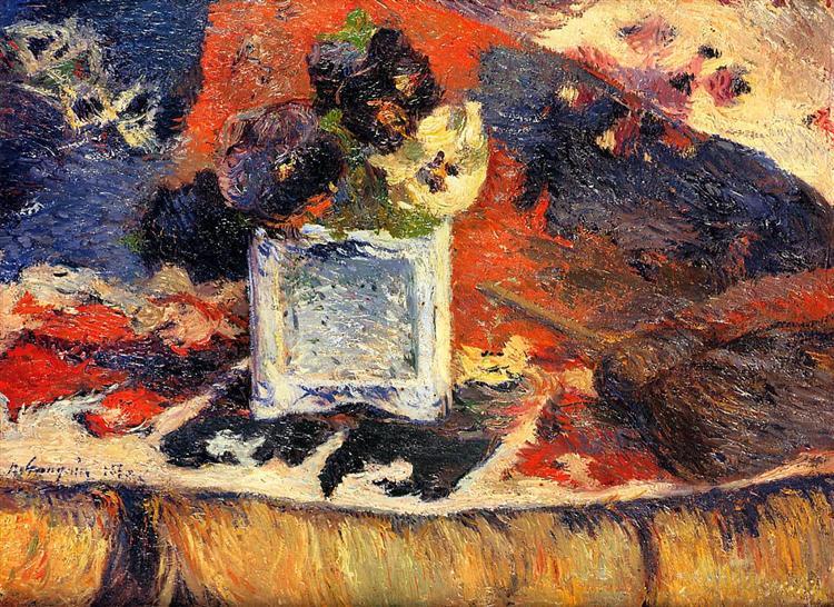 Flowers and carpet (Pansies), 1880 - Paul Gauguin