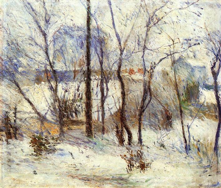 Garden under Snow, 1879 - Paul Gauguin