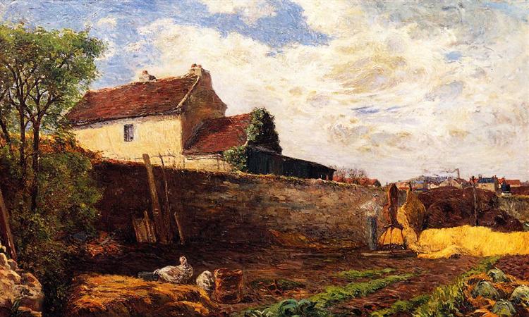 Geese on the farm, 1879 - Paul Gauguin