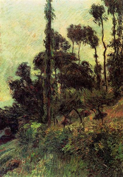 Hillside, 1884 - Paul Gauguin