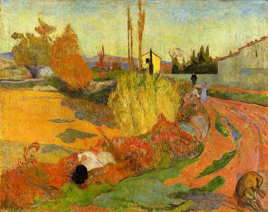 Landscape at Arles, 1888 - Paul Gauguin - WikiArt.org