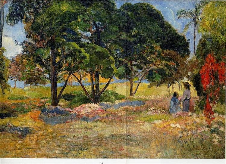 Landscape with three trees, 1892 - Paul Gauguin