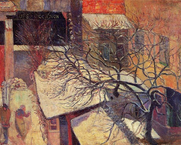 Paris in the snow, 1894 - Paul Gauguin