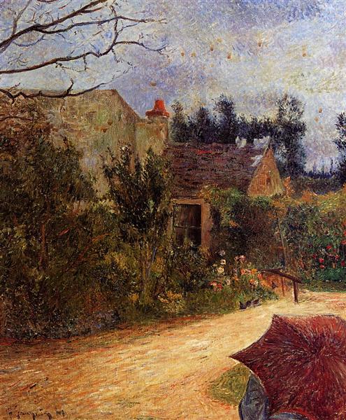 Pissarro's Garden, Pontoise, 1881 - Paul Gauguin