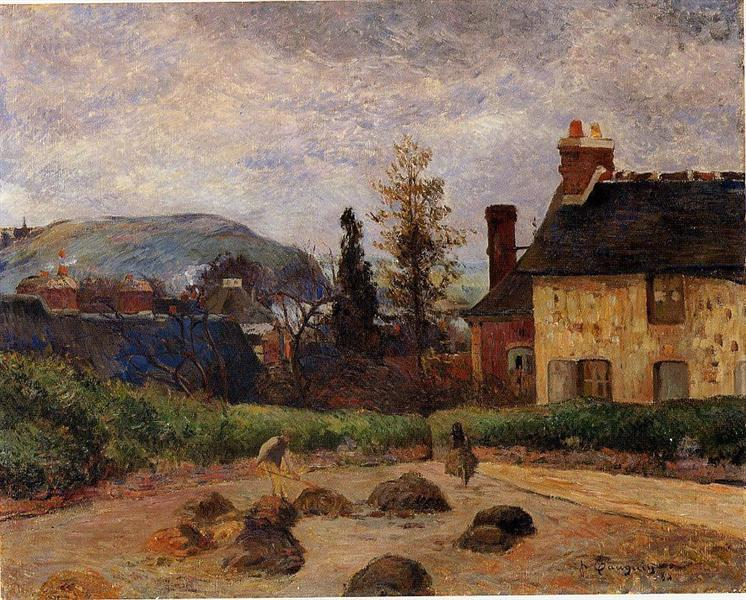 Returning from the harvest (Manuring), 1884 - Paul Gauguin